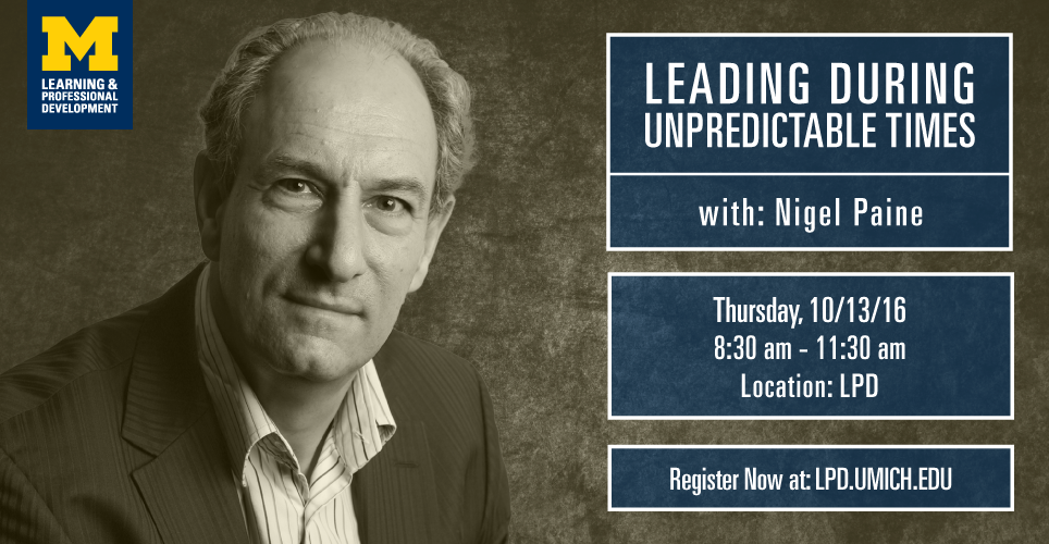 Leading Through Unpredictable Times with Nigel Paine