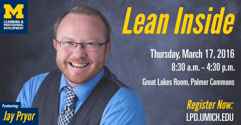Jay Pryor is back this March with Lean Inside!