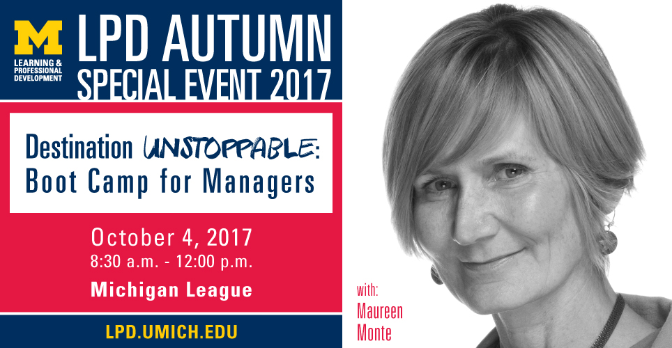 A Message From Maureen Monte About the LPD Autumn Special Event