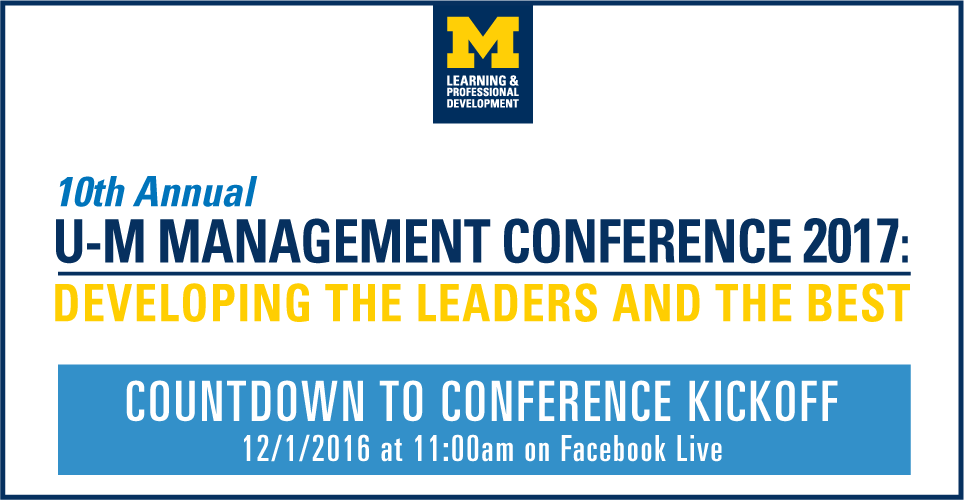 Countdown to U-M Management Conference Kickoff This Thursday