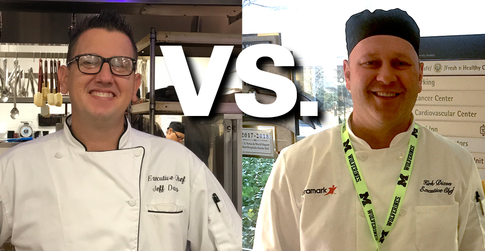 Executive Chefs Jeff Davis and Kirk Dixon compete head-to-head