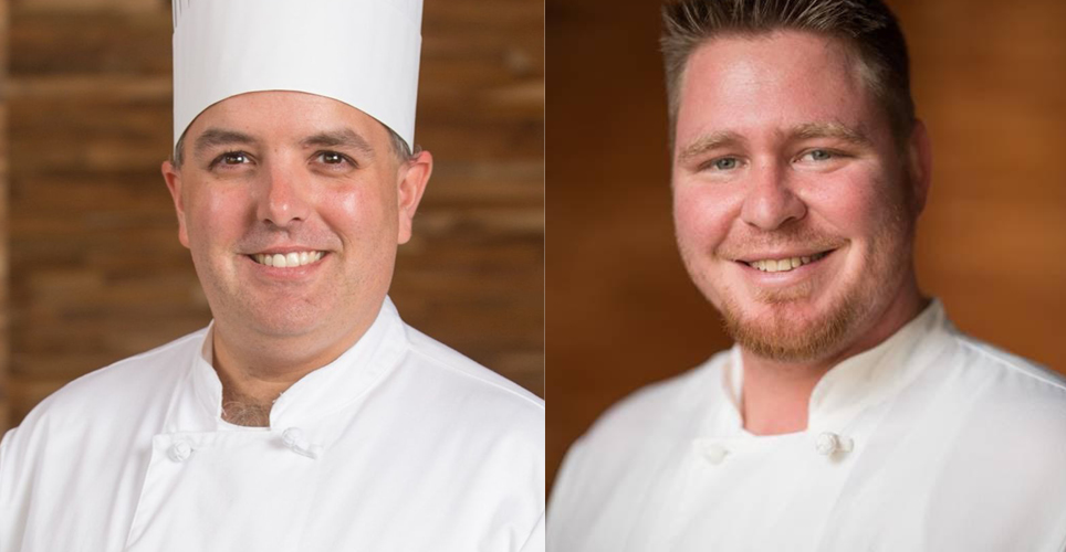 Chefs Brian Barker and Peter Simone