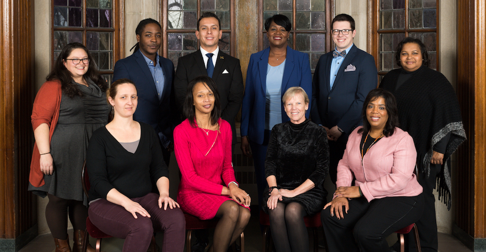 Group photo of individual award winners of the 2018 Distinguished Diversity Leaders Award for Staff