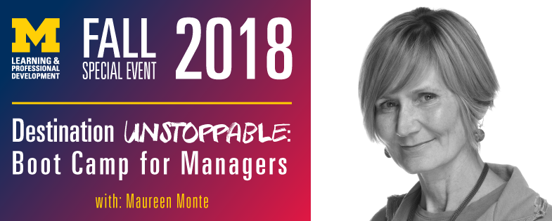 Destination Unstoppable: Boot Camp for Managers - 10/4/18