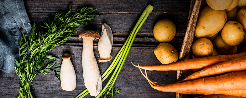 carrots, onions and other vegetables