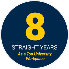 8 Straight Years as a Top University Workplace