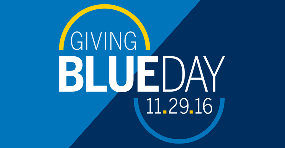 Giving Blueday is Nov. 29, 2016