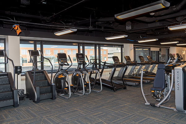 Exercise machines at the U-H South Wellness Center