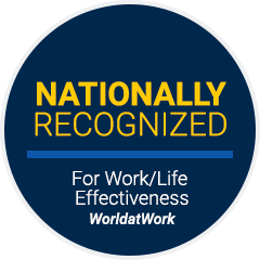 Nationally Recognized For Work-Life Effectiveness