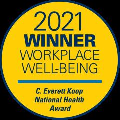 2021 Winner Workplace Well-being C. Everett Koop National Health Award