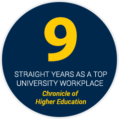 9 Straight Years as a Top University Workplace - Chronicle of Higher Education