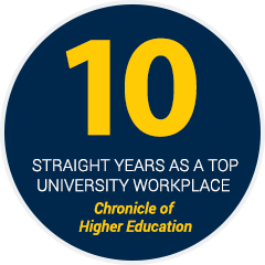 10 straight years as a top university workplace - Chronicle of Higher Education