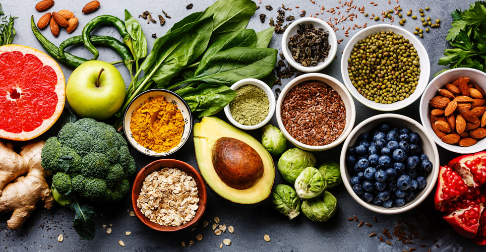 image of fruits, vegetables, grains, spices