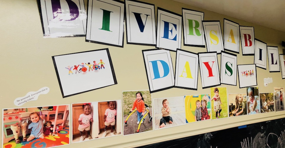 "Colored letters spelling out ""Diversability Days"""