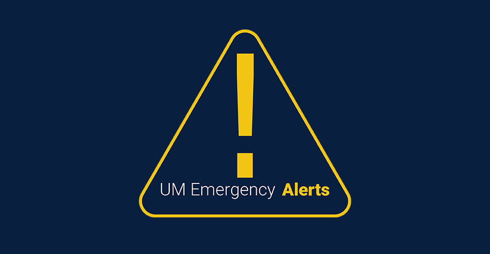 emergency alert messages from U-M