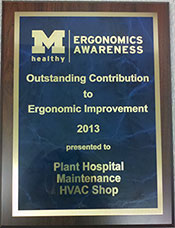 Ergonomics Awareness Plaque