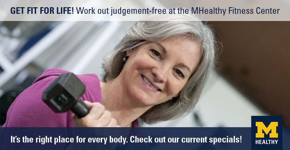 Check out the current specials from the MHealthy Fitness Center.