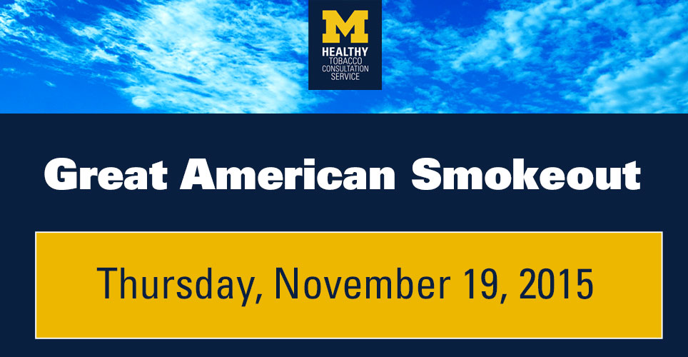 Great American Smokeout is Nov. 19