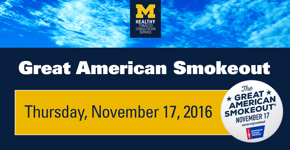 Nov. 17 is Great American Smokeout