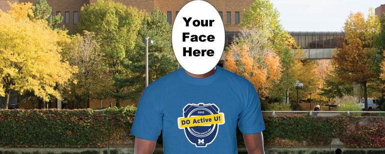Man wearing Active U T-Shirt