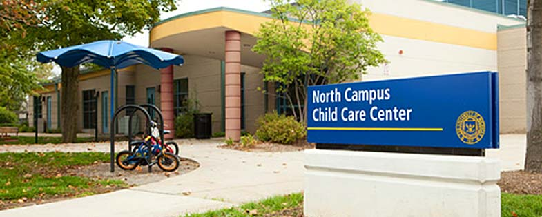 Sign in front of the North Campus Children's Center