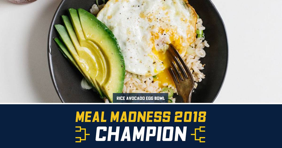 Mhealthy meal madness recipe contest human resources university of congratulations to rice avocado egg bowl forumfinder Choice Image