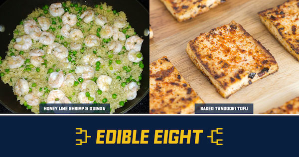 Honey Lime Shrimp Vs. Tandoori Tofu