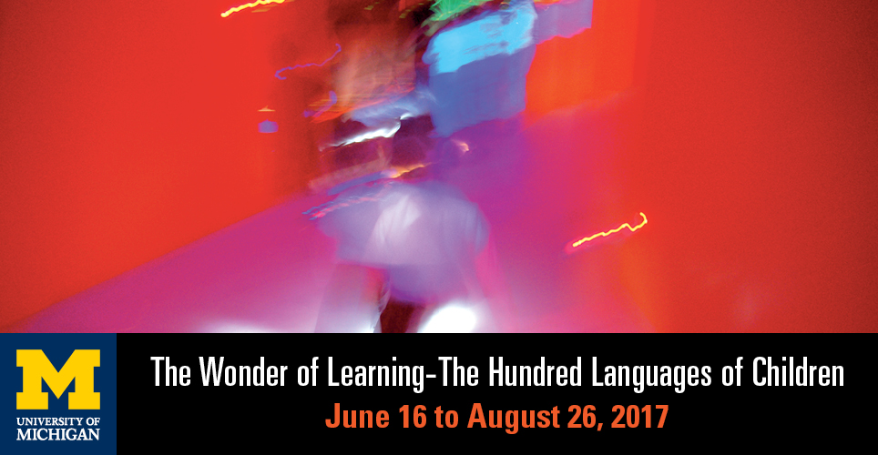 Wonder of Learning abstract image with title The Wonder of Learning, June 16-August 26