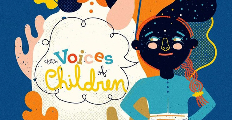 Illustration of child from Voices of Children Documentary project