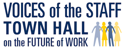 Voices of the Staff Town Hall logo